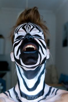 all about Make up: [#100daysofmakeup] Zebra - get the look - pics and howtodo