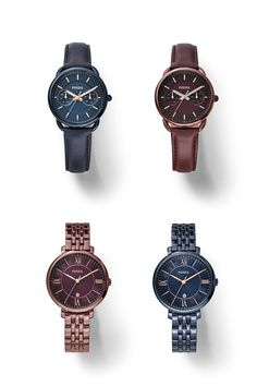 Colorful wine and navy boyfriend watches for her are an easy holiday gift.