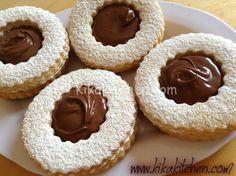 Occhi di bue alla nutella (biscotti con nutella)
