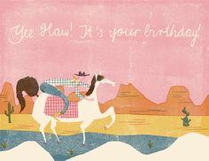 Yippie yeah  card design for the wonderful redcapcards   Barbara Dziadosz