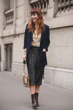 street style outside chloe at paris fashion week redhead lordashbury.com