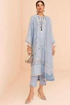 BLUEBELL (EV-19325)– ELAN Sari, Pakistani Dresses, Indian Wear, Ready To Wear, Tunic Tops, Shirt Dress, Couture, Collection, Casual