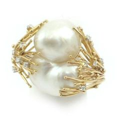 "Baroque pearl ring (cool setting..not a fan of ""gold"" jewelry USUALLY)"
