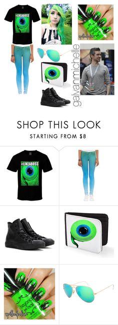 """Jacksepticeye Outfit"" by galvanmichelle ❤ liked on Polyvore featuring J Brand and Converse"