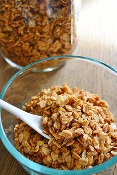 Maple-Cinnamon Granola recipe #grains #snack #cereal #breakfast