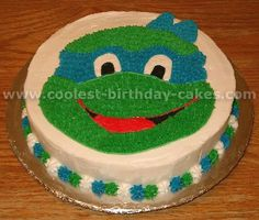 Teenage Mutant Ninja Turtles Cake Photo joey would die!!