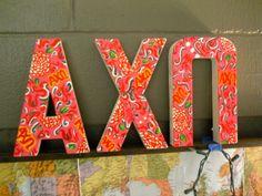 adorable! mock AXO lilly print