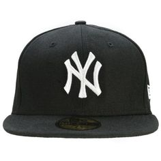 New Era MLB New York Yankees 59FIFTY Fitted Cap ($32) ❤ liked on Polyvore featuring accessories, hats, cap, snapbacks, casquettes, new era snapback, yankees snapback hats, yankees hat, snap back hats and snapback hats