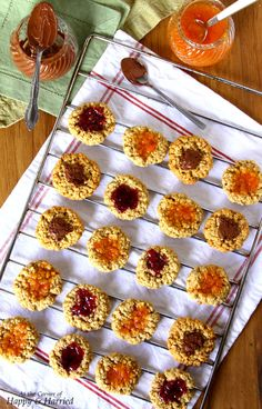 Healthier Oatmeal Thumbprint Cookies - a twist on the classic jam thumbprint cookies (CDK in db )