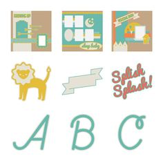 Cricut® Everyday Cartridge, The First Few Years - Very cute, also has a lot of tags and frames and banners for use in other projects.