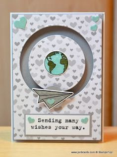 I've been making slider cards using Stampin' Up! Sliding Star Framelits Dies and the Shooting Star Stamp Set. ..........they are sooo easy! It's currently available as a bundle with the Shooting Star Stamp Set. This would make a great Bon Voyage card. I made a baby card to show the versatility of the bundle! Video link: youtu.be/7w1vR7gA8Ac