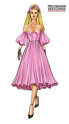 Dress Design Sketches, Fashion Design Sketchbook, Fashion Design Drawings, Fashion Sketches, Fashion Figure Drawing, Fashion Drawing Dresses, Fashion Illustration Dresses, Croquis Fashion, Fashion Design For Kids