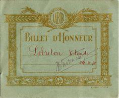 Billet d'honneur - EIPDEP 414 vert - Lebreton Claude - 1948 (from http://souvenirsdecole.com/picture?/135) Imprimeur E.I.P.D.E.P.