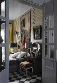 Habitually Chic®: Chic in Madrid: Lorenzo Castillo Boudoir, Interior Decorating, Interior Design, Decorating Tips, Modern Interior, Damier, Elle Decor, My Dream Home, Decoration