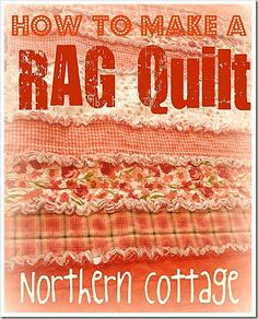 Easiest quilt a beginner could possibly make. How TO MAKE a ruffle rag quilt @ Northern Cottage. This is so much easier than the paper pieceing quilt i'm working on! I will definately have a go at this at some point. Patchwork Quilting, Quilting Tips, Quilting Tutorials, Quilting Projects, Sewing Projects, Quilting Classes, Jellyroll Quilts, Modern Quilting, Scrappy Quilts