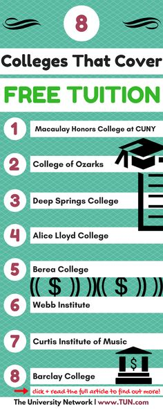 These 8 colleges cover full tuition!