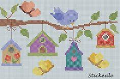 spring cross stitch freebie