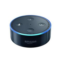 Amazon Echo Dot is a hands-free, voice-controlled device that uses Alexa to play music, control smart home devices, provide information, read the news, set alarms and more Connects to speakers or headphones through Bluetooth or 3.5 mm stereo cable to play music from Prime Music, Spotify and TuneIn Controls lights, switches, thermostats and more with compatible connected devices from WeMo, Philips Hue, Hive, Netatmo, tado° and others