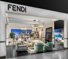 Fendi-Maison-And-Objet-Americas-Miami-Design-Booth - Home Decorating Trends - Homedit Interior Design Shows, Interior Design Singapore, Luxury Interior Design, Interior Decorating, Big Design, House Design, Design Ideas, Contemporary Furniture, Houses