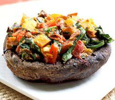 Recipe of the WeeK (6.11.12): Stuffed Portobello Mushrooms - easy, tasty treat, like pizza without the crust.