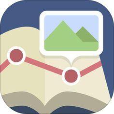 Mapion Co., Ltd.「マピオンおでかけアルバム」   出掛けた時にこのアプリの地図に思い出として撮って 写真に一言つけたりしてアプリ内に残せるので愛用 evernoteへも共用も可能。ただevernoteからこのアプリを開いて見る形式。