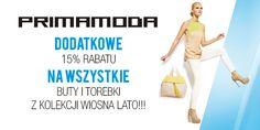 Na wszystkie modele z kolekcji wiosna - lato obowiązuje dodatkowe 15% rabatu!!!