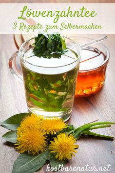 How to use dandelion tea for your health- So nutzt du Löwenzahntee für deine Gesundheit Three dandelion tea recipes – for a healthy start to spring and tips on how to use leaves and roots all year round - Herbal Tea Benefits, Herbal Teas, Tea Blends, Tea Recipes, For Your Health, Tea Time, Healthy Life, Herbalism, Dandelion