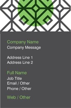 Standard Business Cards Designs Custom Page 292