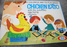 Chicken Lotto Game by Ideal: One of my all-time childhood favorites!!!!!!