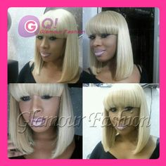"""Find More Wigs Information about platinum blonde wig human hair blonde lace front wig full lace wigs with full bangs for black women color 613# 27# 10"""" 16"""" 130%,High Quality lace wig adhesive remover,China lace wig glue Suppliers, Cheap lace wig curl from Glamour Fashion Hair CO.,LTD on Aliexpress.com"""