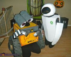 Zuleika: This year we decided to dress up as Wall E & Eve after one of our favorite animated movies, Wall e. We made our costumes out of recycled materials such...