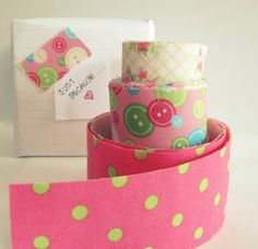 """Washi' been up to?""  Make your own washi tape using wax paper, masking tape, fabric and Mod Podge!  Love this idea!!"