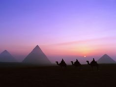 The Pyramids of Giza.  Take the long camel ride to the furthest vantage point, away from the crowds so you can see all 9 from one location. Simply amazing.