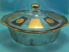 Fire KIng Two Quart Gold Casserole