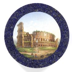 Circular snuffbox with micromosaic of the Colosseum in Rome, 1810-1820, Rome, Italy, museum no. M.294-1921   The Victoria and Albert Museum, London; given by Mrs Carew from the Farquhar Matheson Collection