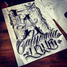 tattoo script lettering