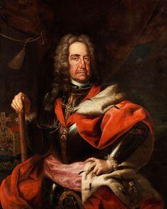 BILDNIS KAISER KARLS VI Öl auf Leinwand. 110 x 92 cm. Gerahmt. Kaiser Karl VI (1685 - 1740) im Halbbildnis wiedergegeben. Vor seiner von einer schimmernden...