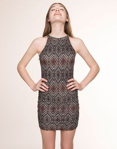 GEOMETRIC PRINT HALTER-NECK DRESS - HOT PRICES - WOMAN - PROMOTIONS - PULL&BEAR Poland