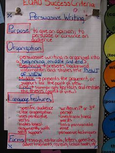 Great ideas on teaching persuasive writing.