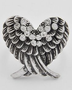 Angel Wing Heart Ring