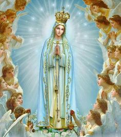 Mother Mary Images, Jesus And Mary Pictures, Images Of Mary, Mary And Jesus, Blessed Mother Mary, Blessed Virgin Mary, Archangel Prayers, Jesus E Maria, Lady Of Fatima