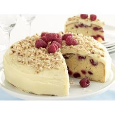 White chocolate and raspberry mud cake recipe - By recipes+ #cake