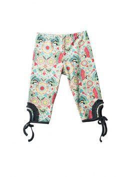 Butterfly Folk Leggings With Ties