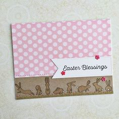 Easter Blessings Card by Heather Nichols for Papertrey Ink (February 2016)