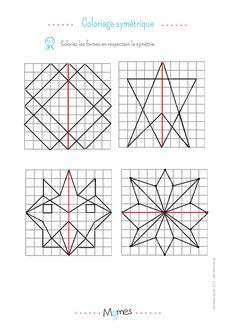 9 fiches avec des frises géométriques à continuer et à