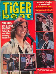 Shaun Cassidy on the cover of Tiger Beat (May 1978)