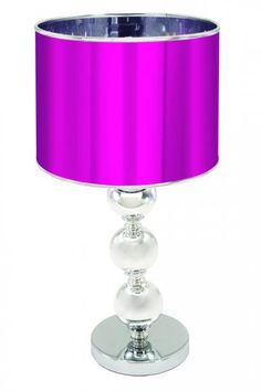 Ohhh kinda funky with the purple, but I love the base of this lamp!!