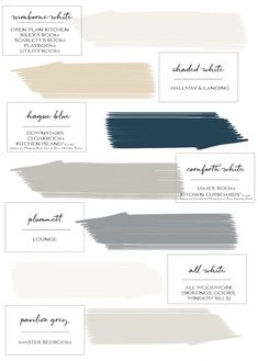 Farrow & Ball Paint Colours in My Home - Just A Little Build Farrow Ball, Farrow And Ball Paint, Paint Color Schemes, House Color Schemes, House Colors, Light Grey Paint Colors, Paint Colours, Neutral Paint, Gray Paint