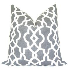 Pillow Cover - Throw Pillow - Decorative Pillow - Toss Pillow - Sofa Pillow - Schumacher - Summer Palace  Fretwork - Trellis - 17x17 inch. $65.00, via Etsy.