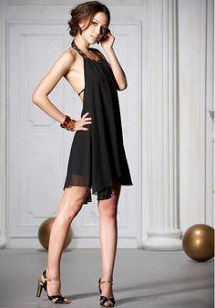 Black Sexy Backless Boho Maxi Dress by LYDRESS on Etsy